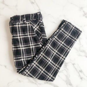 Free People Black and White Checkered Pants